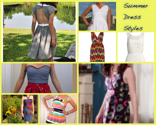 CollageImage summer dress styles