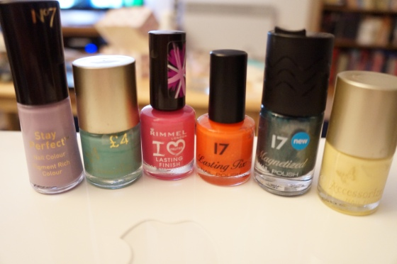 The nail varnishes