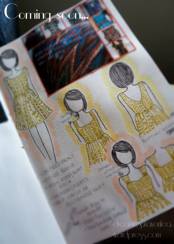 So far I have selected the pattern and taken the fabric out of my stash - woop!
