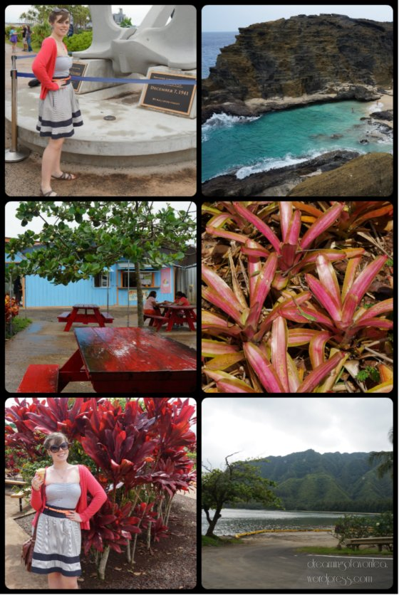 Day 1 in Oahu. Nothing Me Made, but my cardigan  matched the leaves everywhere!
