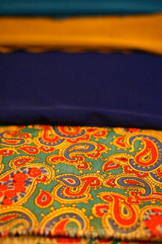 The paisley is for my wrap around dress and the rest is lining.