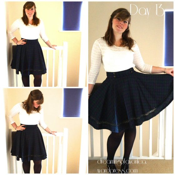 Interview day - Me Made skirt with no visible seams. Click for original blog post.