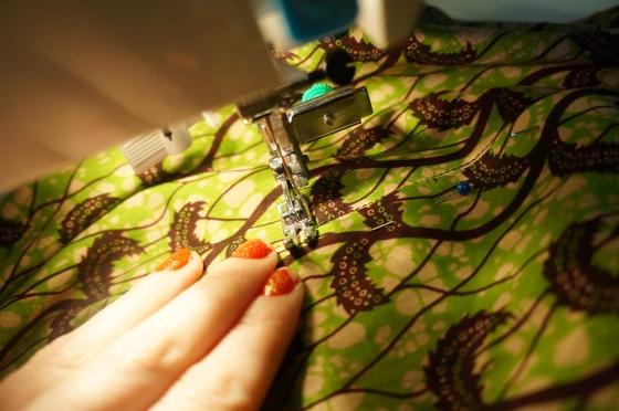 sew across the bottom of the zip