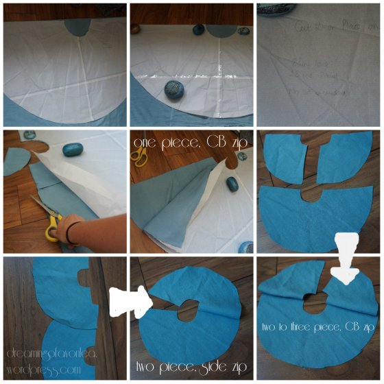 zip placement and cutting