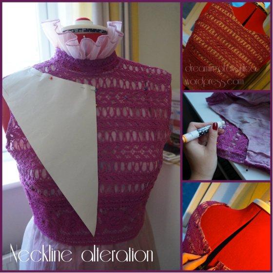neckline alteration