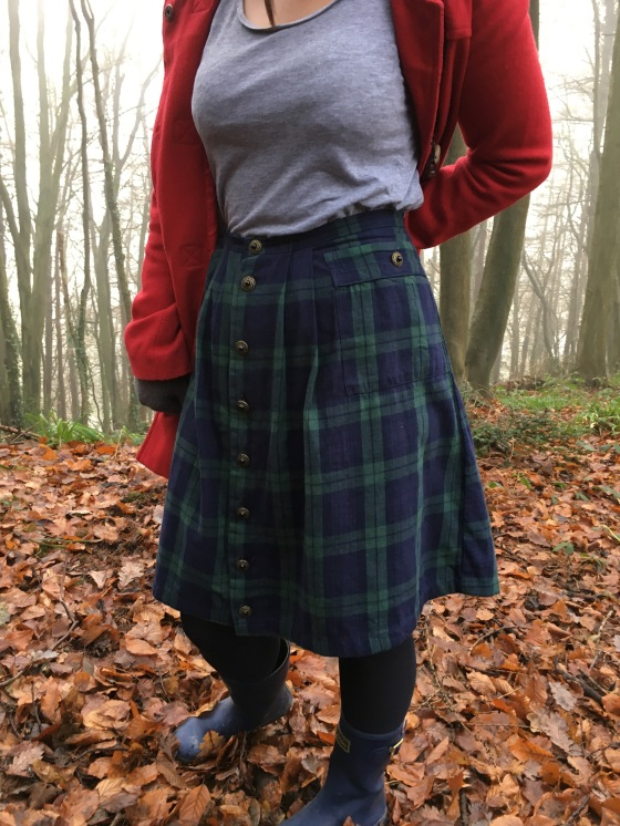 Tartan Dressing Gown Skirt | dreaming of avonlea